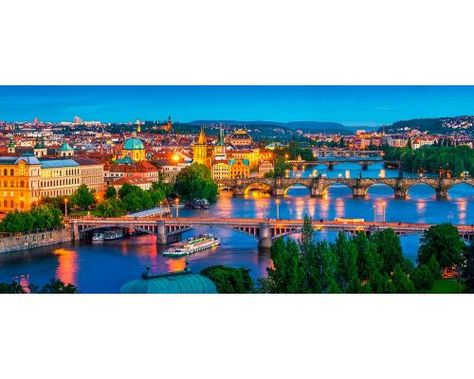 Puzzle Castorland Praga de Noche de 600 de Piezas