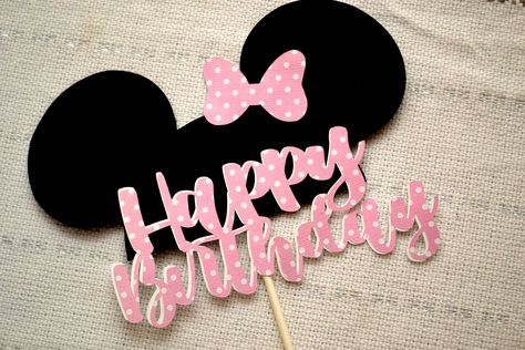 Minni Mouse Cake, Minnie Mouse Roja, Minnie Mouse Cake Topper, Disney Cake Toppers, Disney Cakes, Birthday Cake Toppers, Minnie Cake, Minnie Mouse Birthday Theme, Minnie Mouse Party Decorations