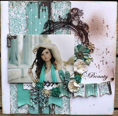 May Layout of the Month - Swirlydoos Scrapbook Kits