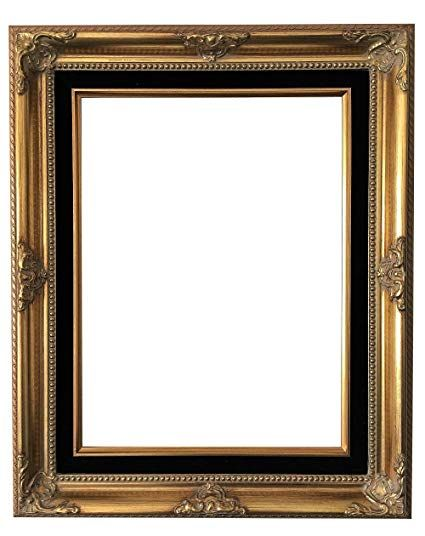 West Frames Estelle Antique Gold Black Velveteen Liner Wood Baroque Picture Frame 12 X 16 Gold Picture Frames Frame Picture Frames