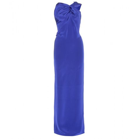 ROLAND MOURET Gazella draped silk-crepe dress