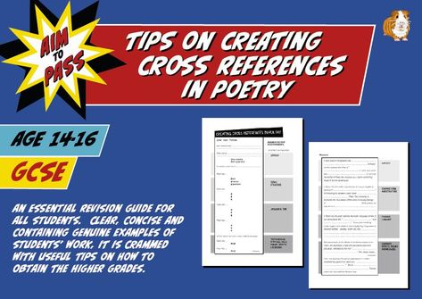 Tips On Creating Cross References In Poetry For GCSE English (14-16 years)