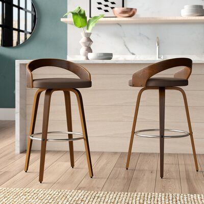 Langley Street Wright Bar Counter Swivel Stool Wayfair In 2020 With Images Counter Stools Bar Stools Counter Height Bar Stools