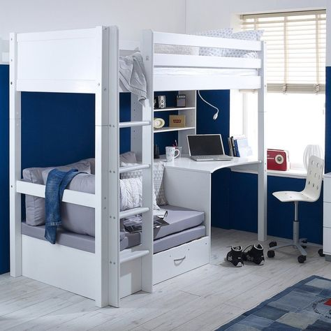 You Can Opt For Multifunctional Bunk Bed Which Includes Desk The