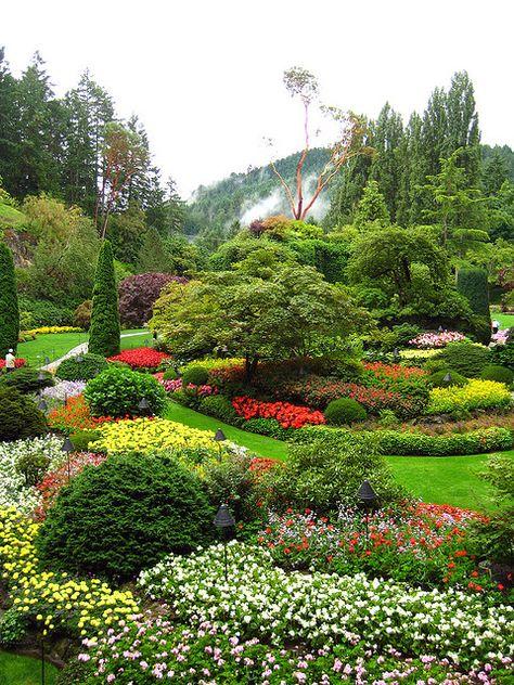 Butchart Gardens O Canada Pinterest Jardines, Jardín y Paisajes - paisajes jardines