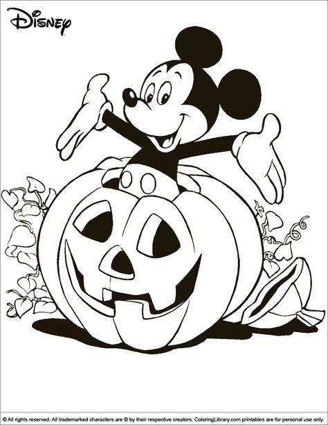 Kleurplaten Disney Halloween.Halloween Disney Coloring Page Coloring Pages For Kids