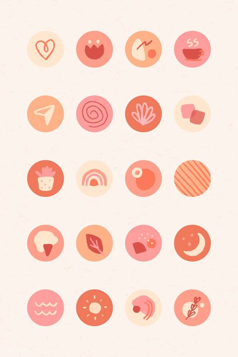 Download free vector of Instagram story highlights icons set vector 2037541