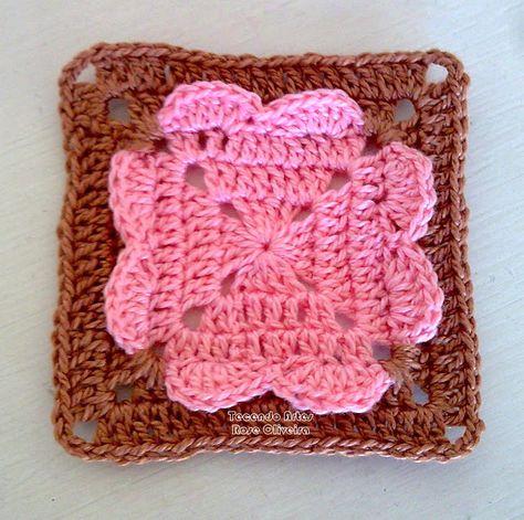 Tecendo Artes em Crochet: Lindo Square - Projetando uma Almofada !