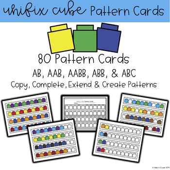 Unifix Cube Or Snap Cube Pattern Cards Unifix Cubes Cube