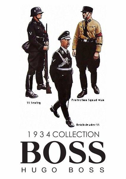 hugo boss advertises ss uniforms n Reich uniforms