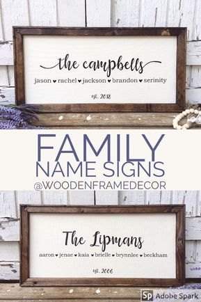 Last name signs personalized for every family.