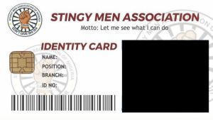 Join And Download Stingy Men Association Of Nigeria Sman Id Card Template App And Form In 2021 Id Card Template Stingy Card Template