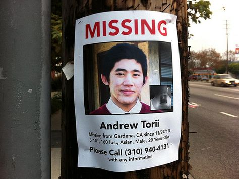 Missing Person Andrew Torii Missing People Pinterest - missing person picture