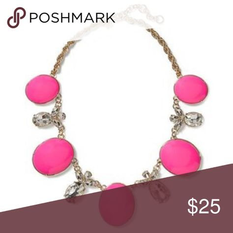 Starlet pink statement necklace So pretty with a solid sheath dress Banana Republic Jewelry Necklaces