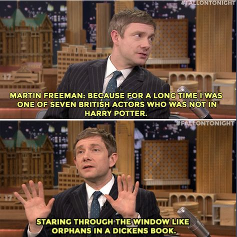 Martin Freeman was a little upset about not being in the Harry Potter films. #FallonTonight