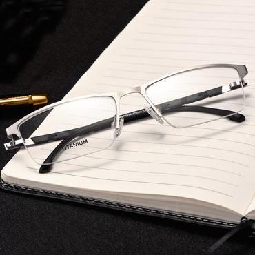 04ec8a1420f6 Reven Jate P9859 Optical Business Titanium Eyeglasses Frame For Men Eyewear  Semi-Rimless Glasses with 4 Optional Colors