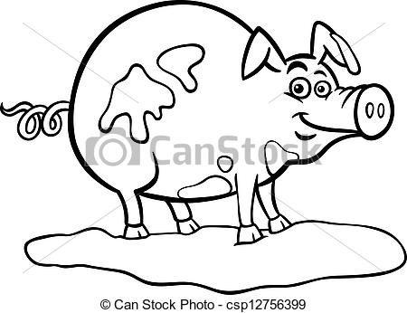 Vector  poco beb cerdo  stock de ilustracion ilustracion