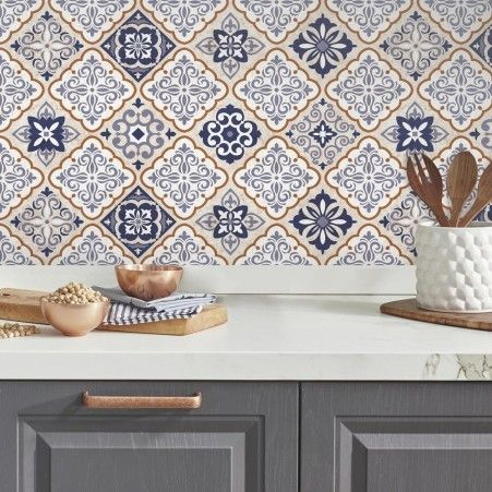 Mexican Tile Peel And Stick Wall Decals Diy Wall Decals Wall Decals Mexican Kitchen Decor