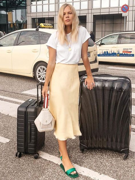 Where to Get This Season's Trendy Slip Skirt Without Spending a Fortune via @WhoWhatWearAU