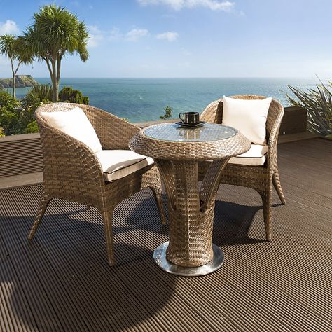 Brown Rattan Bistro Set Also Available In Black Call 02476