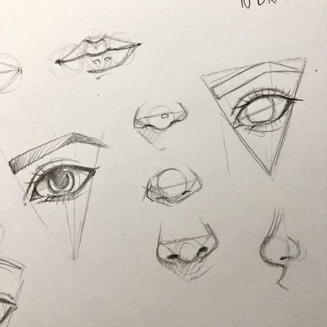 How to draw an eye, nose, lips tutorial preparation - #dibujo #Draw #eye #lips #... - #dibujo #Draw #Eye #lips #nose #preparation #tutorial