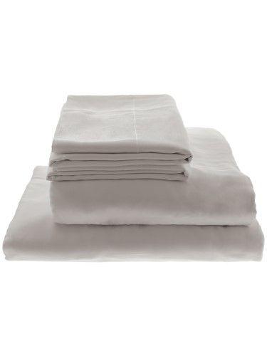 Willow Lane Home 100 Bamboo Sheet Set Sheets Pillowcases Queen Light Grey Bamboo Sheets Sheets And Pillowcases Silky Sheets