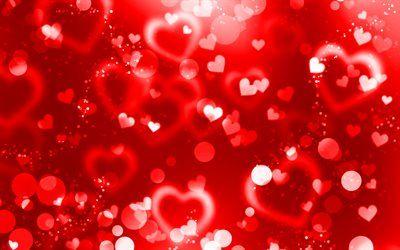تحميل خلفيات الأحمر وهج القلوب 4k لمعان أحمر خلفية الإبداعية الحب المفاهيم مجردة القلوب قلوب حمراء Besthqwallpapers Com Valentines Wallpaper Iphone Valentines Wallpaper Heart Wallpaper