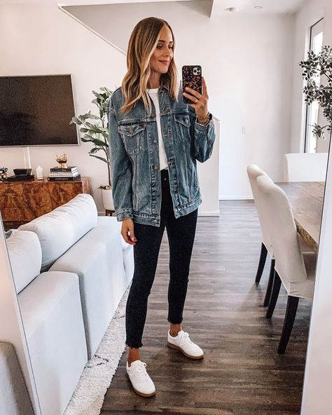 Denim Jacket Guide: My Favorite Jean Jacket Styles Outfit Jeans, Light Jeans Outfit, Cute Casual Outfits, Fall Outfits, Summer Jean Outfits, Skinny Jean Outfits, Cute Jean Outfits, Black Jeans Outfit Summer, Jeans Und Sneakers