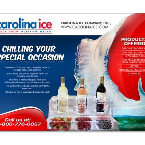 Carolina Ice Sculpture Ad Design Contest Half Page Other Business Or Advertising Contest Design Business Advertising Ad Design Contest Design Ice Sculptures