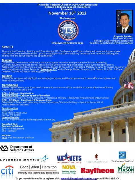 Employment Resource Expo - Fairfax, VA - November 16, 2012   - raytheon security officer sample resume