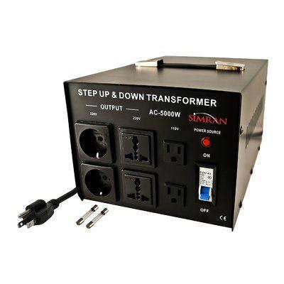 LiteFuze LR-5000 Voltage Regulator Converter Transformer Step Up//Down 5000W
