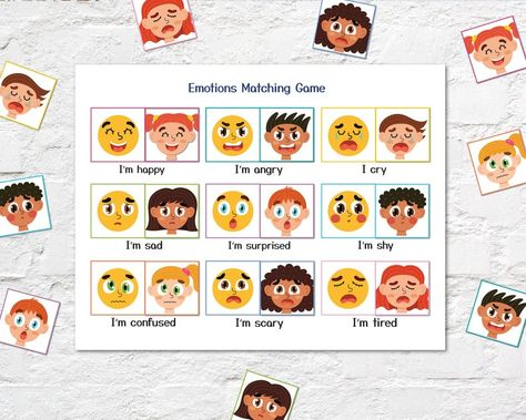 Emotions Busy Book Printable, Busy Bag Pdf, Baby Quiet Book, Preschool Activity Binder, Activities for Kids, Face Parts, Preschool Busy Bag