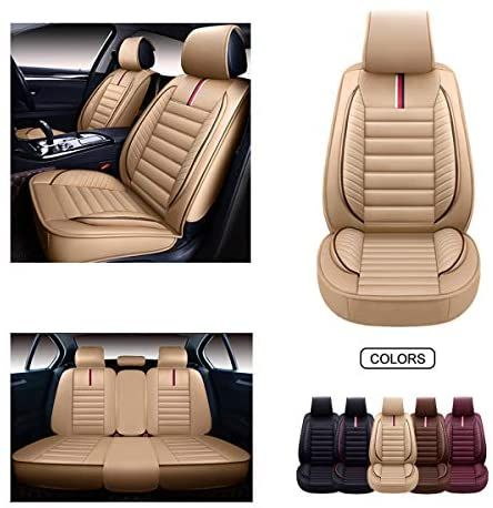 Oasis Auto Leather Car Seat Covers Faux Leatherette Automotive Vehicle Cushion Cover For Cars S Leather Car Seat Covers Leather Car Seats Cute Car Seat Covers