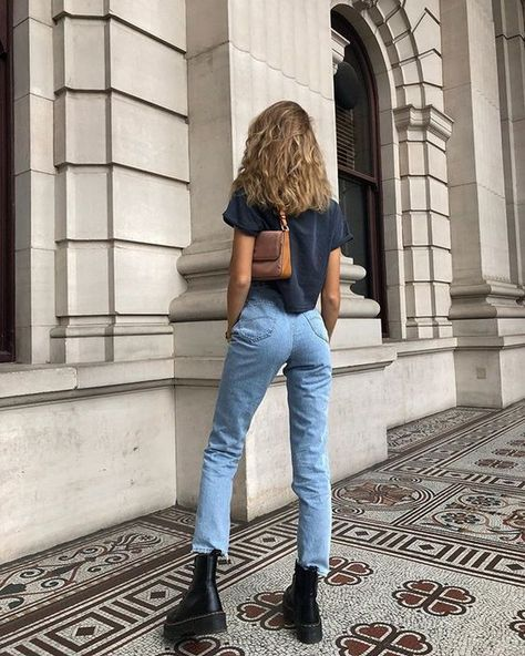 Martens Jadon Boots - -Outfits for spring summer fall and winter. A mix of thrifted vintage clothing and current trends. Mode Outfits, Trendy Outfits, Fall Outfits, Summer Outfits, Outfits With Boots, Simple Edgy Outfits, Look Fashion, Fashion Boots, Fashion Outfits