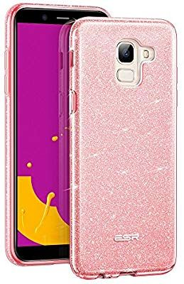 Custodia Bling Glitter Strass Pelle Flip Gufo Cover per Samsung Galaxy J6 2018-Grigio SainCat Custodia Galaxy J6 2018 Portafoglio Glitter
