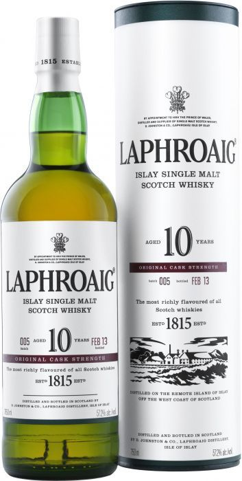 Laphroaig 10 Year Old Cask Strength Islay Single Malt Scotch Whisky $89