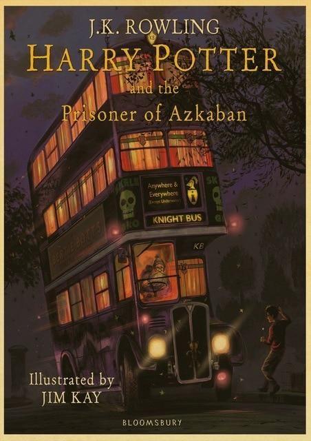 New Harry Potter Retro Hogwarts Wall Art Painting Harry Potter Illustrations Prisoner Of Azkaban Illustrated Prisoner Of Azkaban