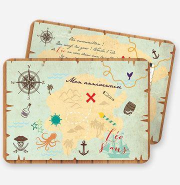 Invitation Anniversaire Carte Au Tresor Invitation Anniversaire