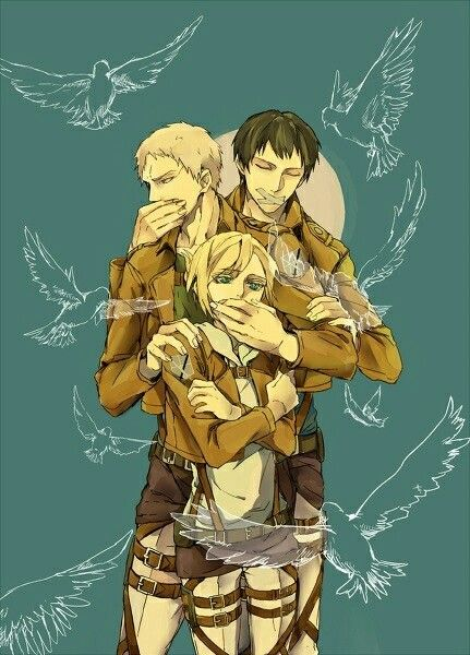 Traitor Trio Attack On Titan Anime Attack On Titan Fanart Attack On Titan Season