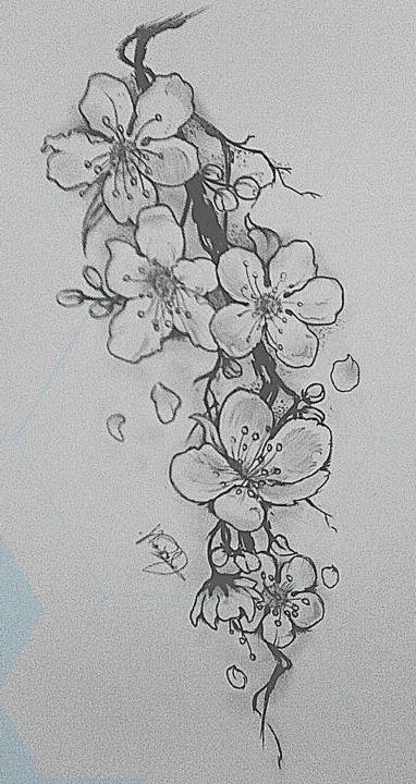 Tatto Ideas 2017 Black And White Cherry Blossom Tattoo Designs Google Suche Black And White Flower Tattoo White Flower Tattoos Cherry Blossom Tattoo