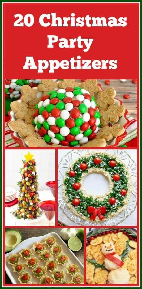 These 20 Delicious Christmas Party #appetizers will make your party a very merry good time! #ChristmasPartyFood #ChristmasAppetizers