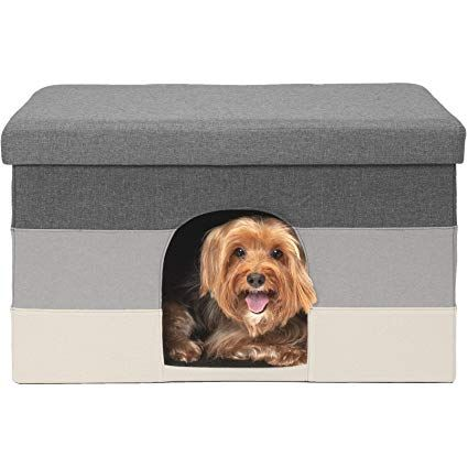 Furhaven Pet Dog Bed Cat Bed House Ottoman Footstool Collapsible Living Room Pet House Condo Indoor Dog House Dog House Dog Houses