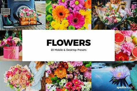 20 Flowers Lightroom Presets & LUTs (1346182) | Lightroom Presets | Design Bundles