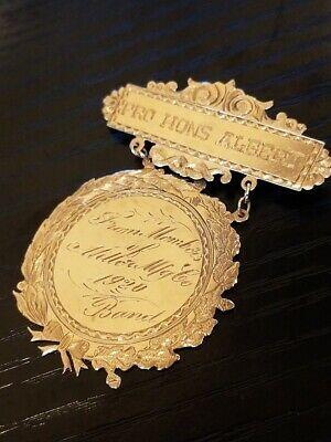 10kt Vintage Gold Medallion Pin 1920 In 2020 Gold Medallion Hand Carved Shell Vintage Gold
