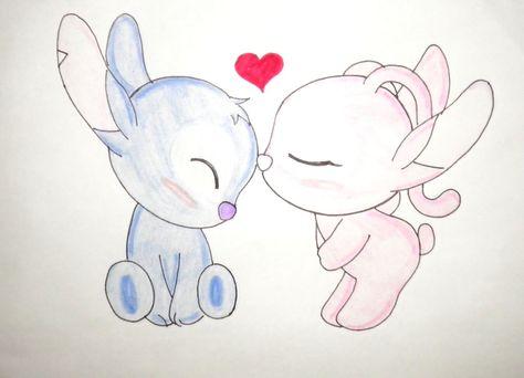 stitch y angel chibi by kary22 on DeviantArt