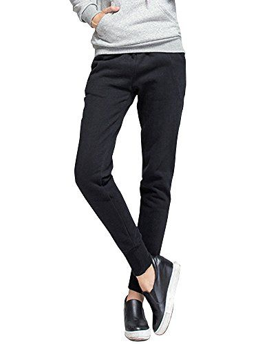 biggest discount search for authentic cheapest price Gooket Women's Elastic Waist Sherpa Lined Sweatpant ...