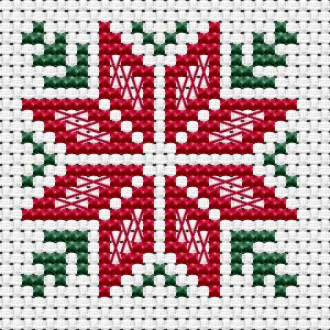 Christmas Flower cross stitch pattern - Cross Stitch Patterns You can make really unique patterns for fabrics with cross stitch. Cross stitch versions can very nearly surprise you. Cross stitch novices can make the versions they want without difficulty. Cross Stitch Christmas Cards, Xmas Cross Stitch, Cross Stitch Letters, Cross Stitch Bookmarks, Cross Stitch Cards, Simple Cross Stitch, Cross Stitch Borders, Cross Stitch Kits, Cross Stitch Designs