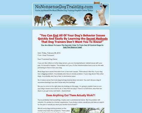 No Nonsense Dog Training Home Garden Dog Training Nonsense