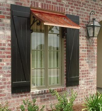 Best Concave Copper Window Awning