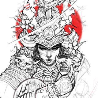 Samurai sketch #chronicink #asianink #tattoo#irezumi #asiantattoo #sketch #drawing #illustration #asianart
